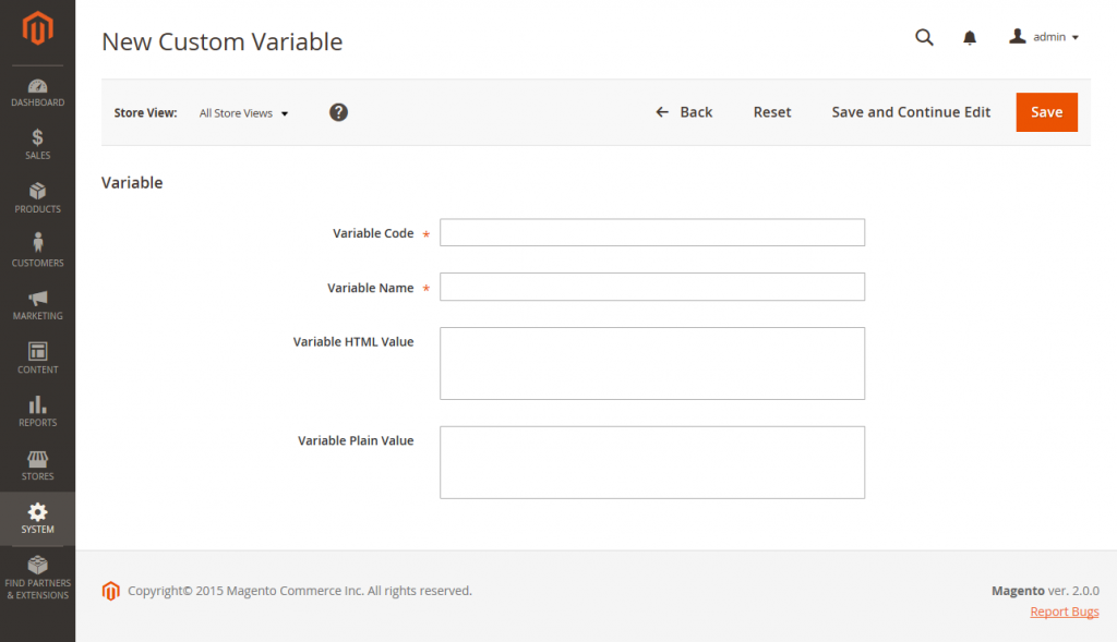 New Custom Variable Adding Custom Variables In Magento 2