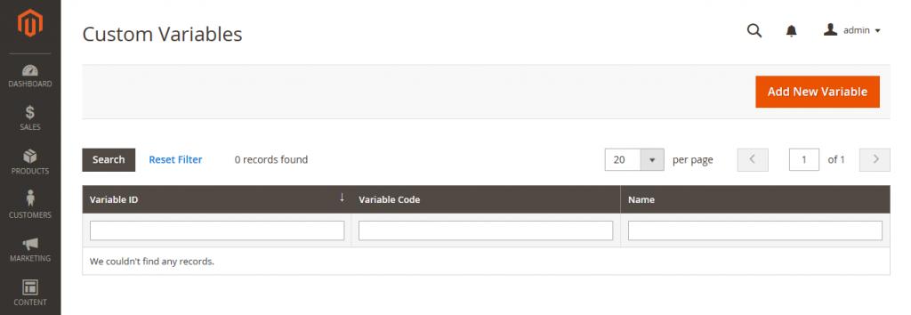 Magento-custom-variables