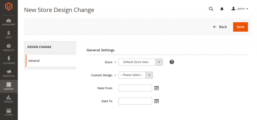 New Design Change Schedule Design Changes in Magento 2