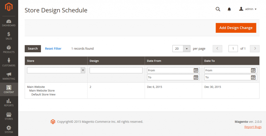 Store Design Schedule Schedule Design Changes in Magento 2